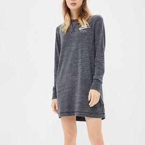 Nike heather grey gym vintage long sleeve dress